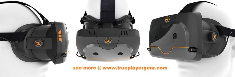 True Player Gear HMD mit einem OLED-Display als Bildgeber.