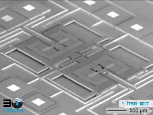 System on a chip: Der Drehratensensor, hier von HSG Imit, erfasst alle Bewegungsrichtungen gleichzeitig