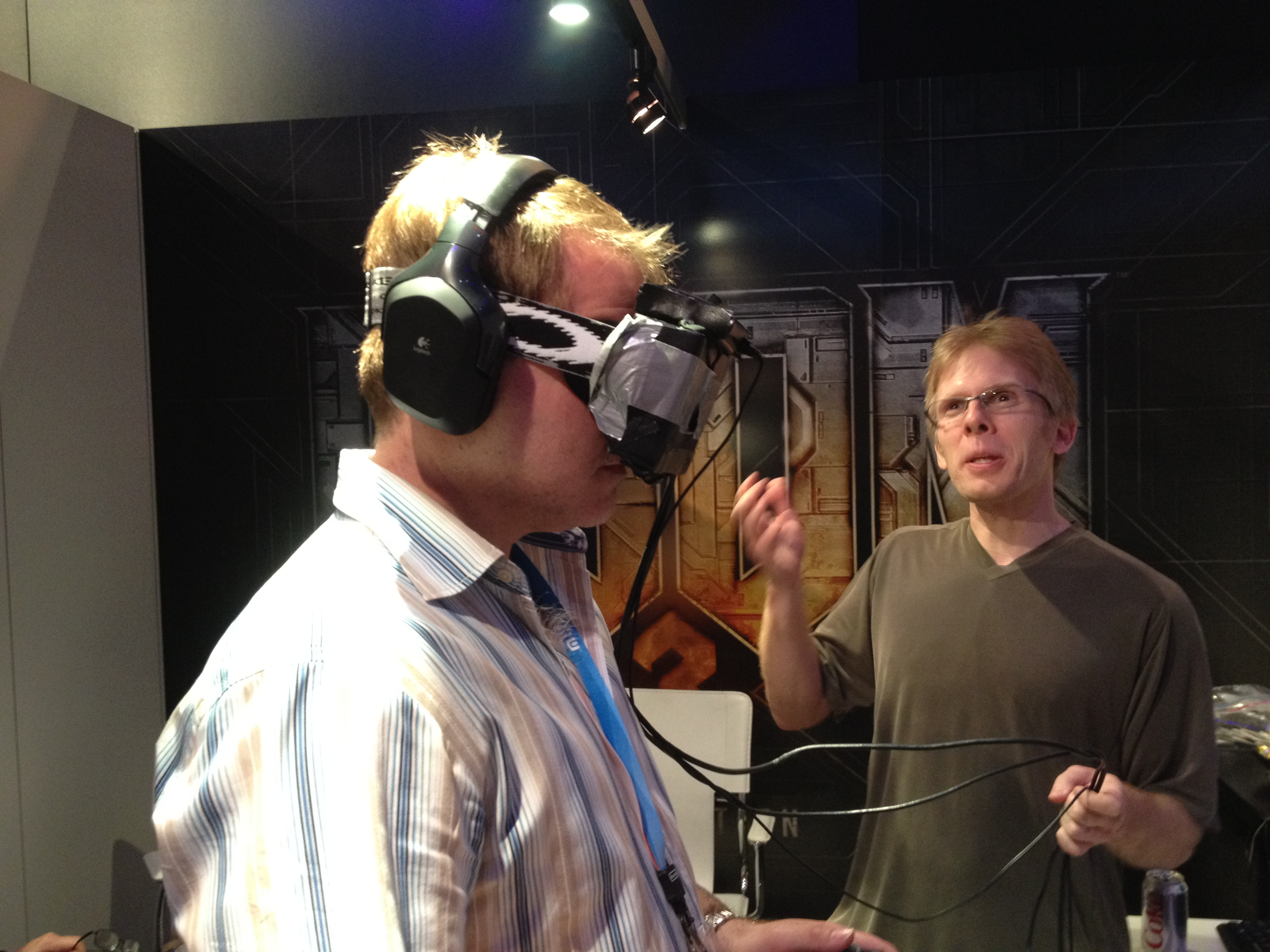 John Carmack und sein Head Mounted Display