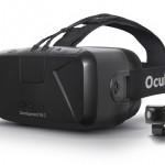 Das DK2 der Oculus Rift besteht aus HMD und Kamera.