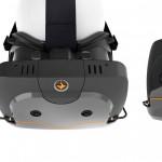 Das Totem HMD von True Player Gear in drei Ansichten.
