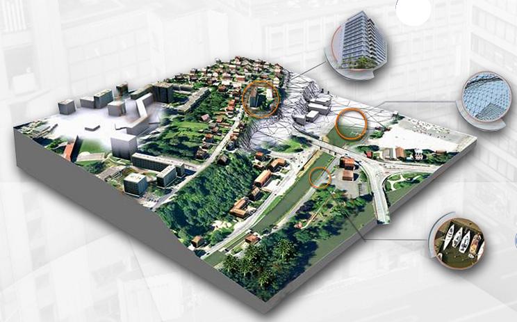 Die Welt in 3D für Navi und Mobiltelefon