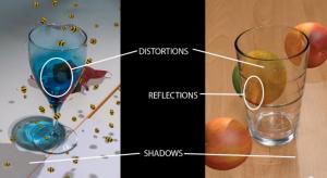 Echtes und auch synthetisches Glas verkompliziert die Analyse und das korrekte Rendering von Objekten im Raum.