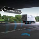 Knifflige Verkehrszusammenführungen kann eine übergeordnete AR besser darstellen.